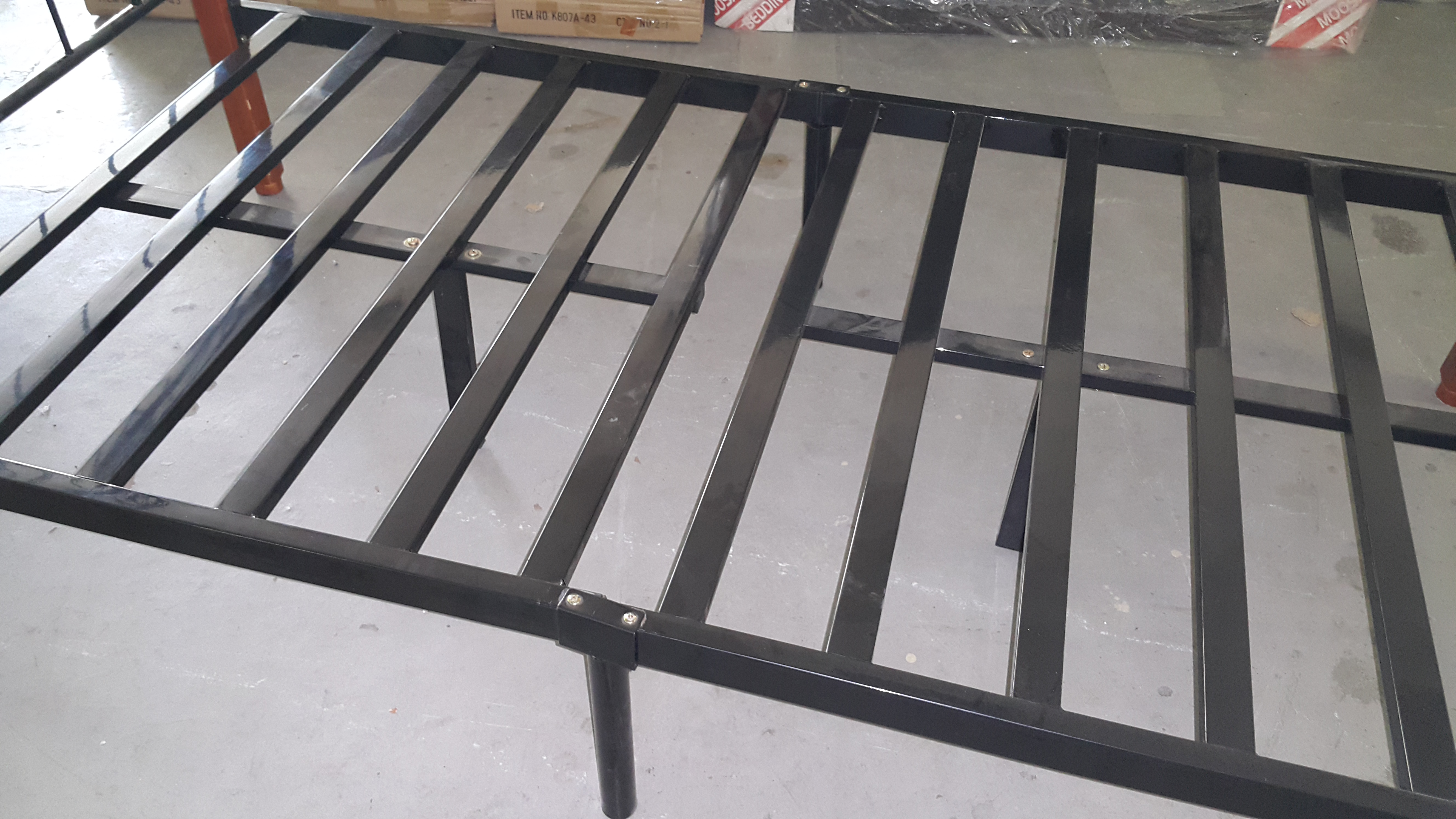 Reinforced Single Bed Base with Extra Support Legs