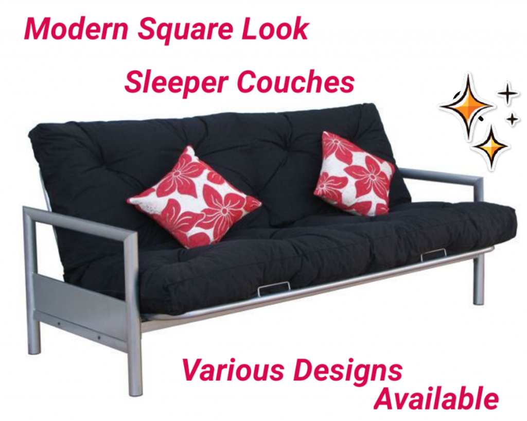 BCS Modern Steel Sleeper Couches available in various colours