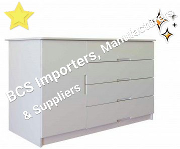 BCS Extra Large Baby Compactum With Door and 4 Drawers