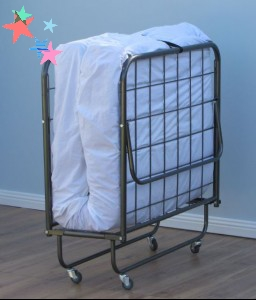 Bigger Single Bed Fold Up Bed with Wheels to accommodate thicker mattress