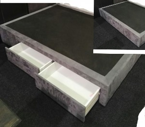 BCS Space Saving Bed Base With Two Drawers