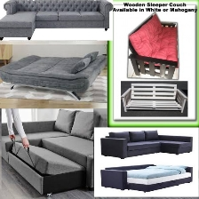 L Shape Couches and Normal Couch that converts into a Sleeper Couch