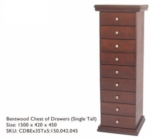 9 Drawers Decorative Top and Base detail in solid Pine Wood