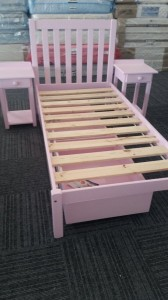 Single Bed with High Headboard and Wooden Bed Base Now R1500 Save over R2000