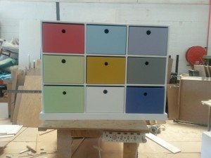 Pigeon Hole Unit 9 Division with different colours