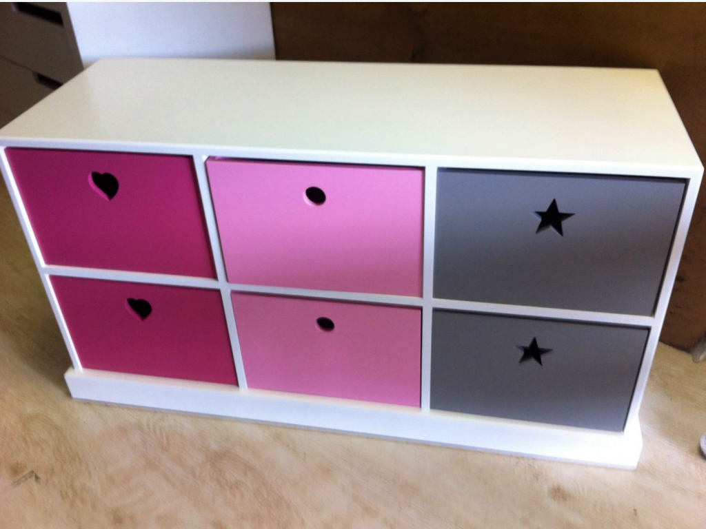 Pigeon Hole Unit with Star Handle and Heart handle