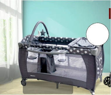 Platinum Grey and White Star Camp Cot
