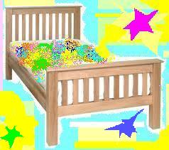 Single bed Slatted