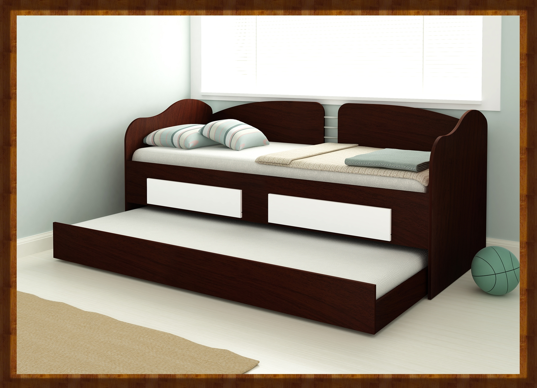 Sofa single beds with 2 drawers and underbed for Single bed sofa