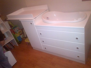 Square Baby Bath Compactum including bath