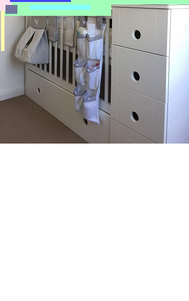 Square Baby Cot With Matching Space Saving Square Chest of Drawers