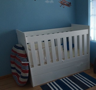 Square Baby Cot Without Drawer
