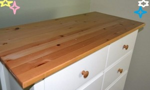 Tow Tone Solid Wood Clear Varnish Tops and White Drawers