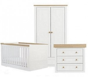 White with Solid Wood Tops and Edges