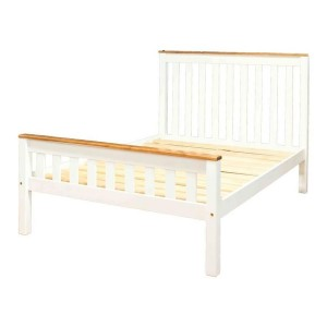 Slatted Single Beds With Matching Footend Two Tone