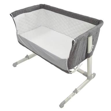 Baby Grey Fabric Co Sleeper including mattress