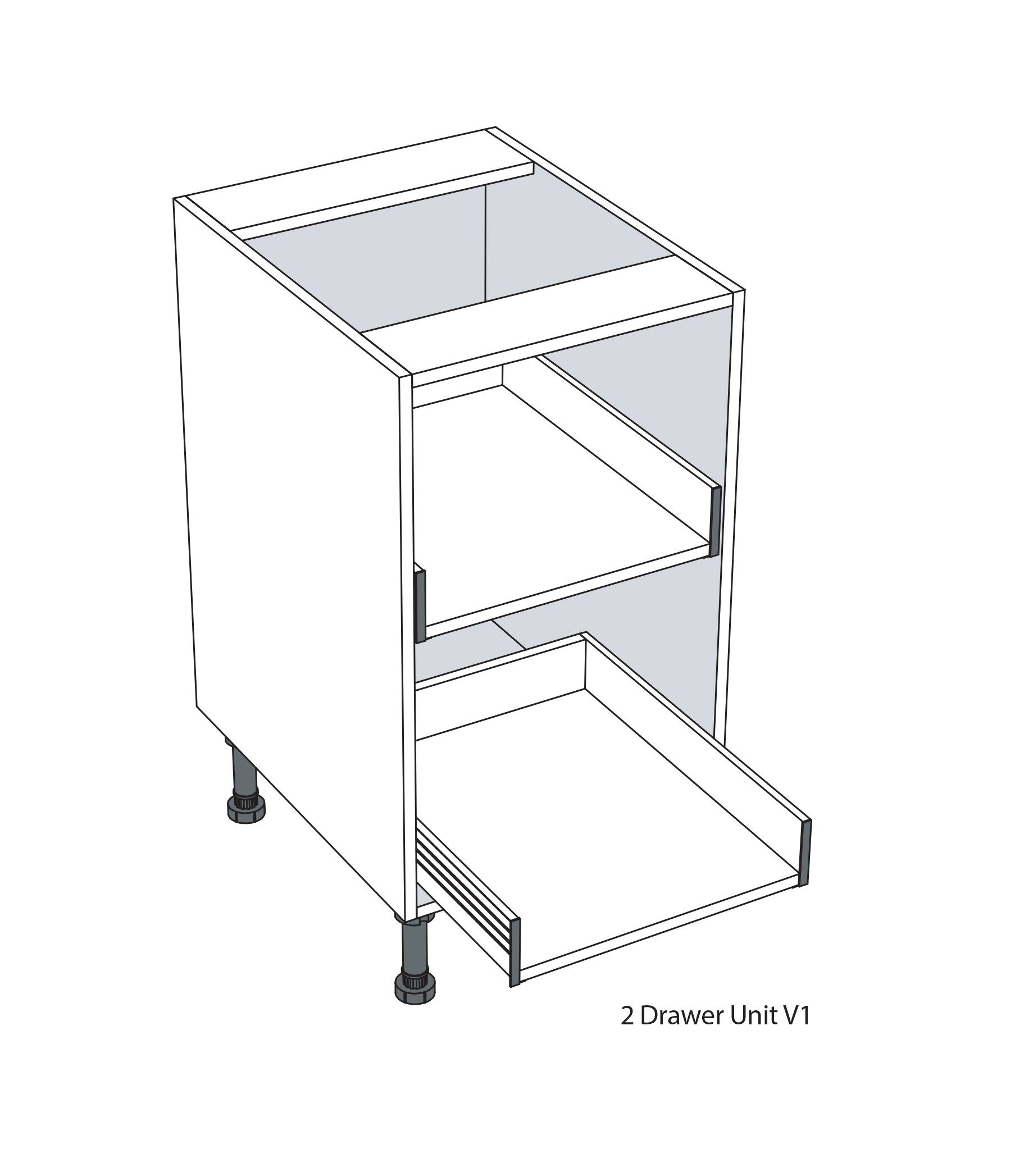 2 Drawer Unit
