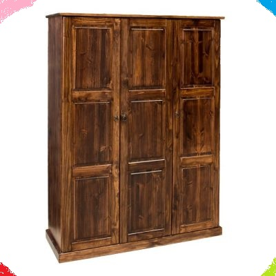 BCS Three Door Cupboard with Two Selves Behind the First Door on the right