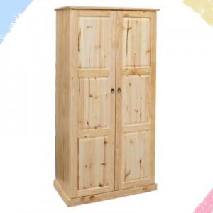 BCS Two door cupboard with 4 shelves behind both doors (No hanging)