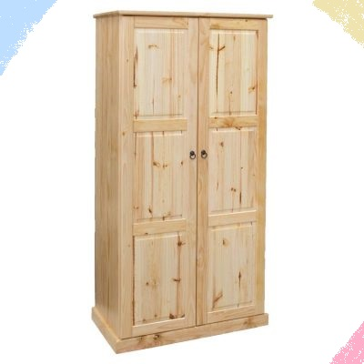 BCS Two door cupboard with 4 shelves behind both doors (No hanging)