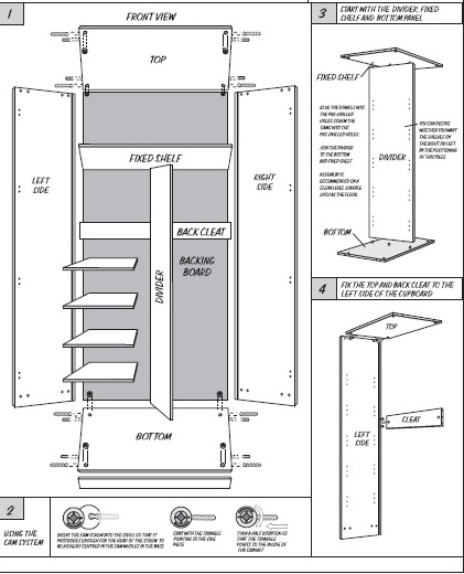 Bedfords Combo Cupboard