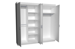 Combo Cupboard with Hanging Cupboard