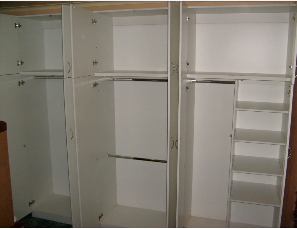 Combo Cupboard with shelves and Hanging Cupboard