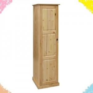 One Door Space Saving Cupboard With Two Shelves