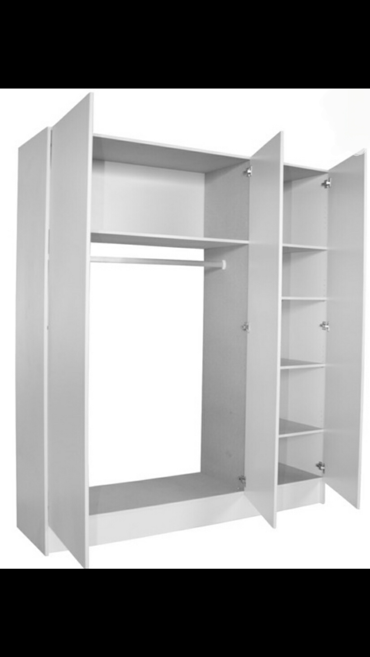 Large Combo Unit with 3 shelves and hanging space