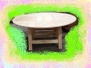 Round Plywood Trestle Tables