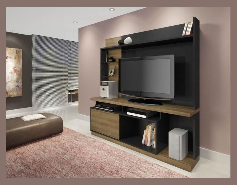 Plasma TV wall unit stand Tita Wood