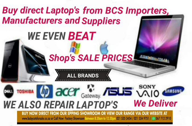 Various Brand New Laptop's Desktop Computers Severs direct to the Public Trade and Educational Institutions