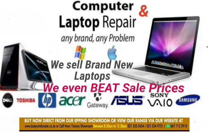 Wide range of Brand New Top Branded Laptops direct to the public