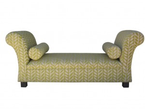 Chaise bea with Scroll Arms