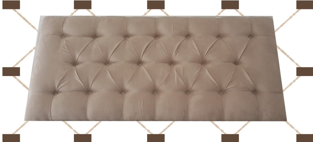 Bedfords Deep Diamond Button Headboard Headboards with same material or leather cover buttons