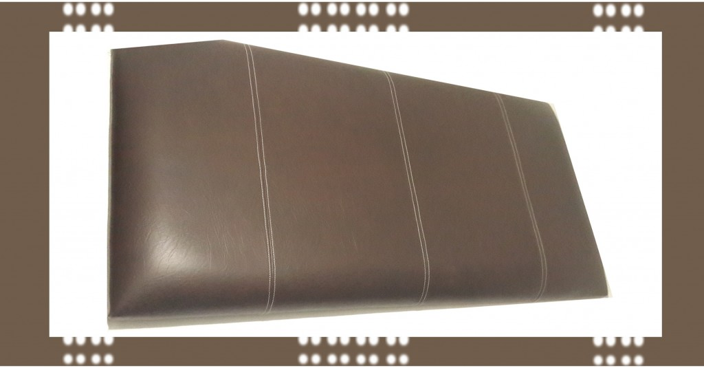 Bedfords Three Panel Saddle Stitch Headboard Headboards