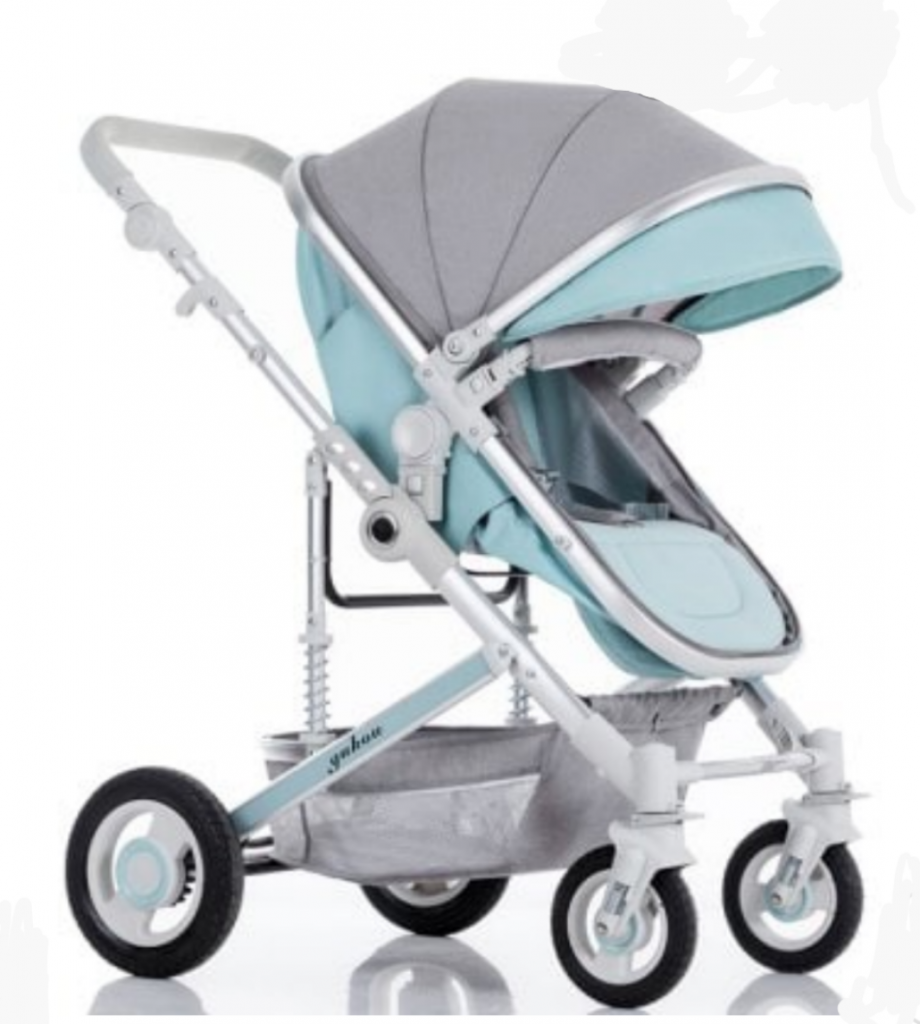 De Lux 2 in 1 Baby Prams in Pram Seating Position