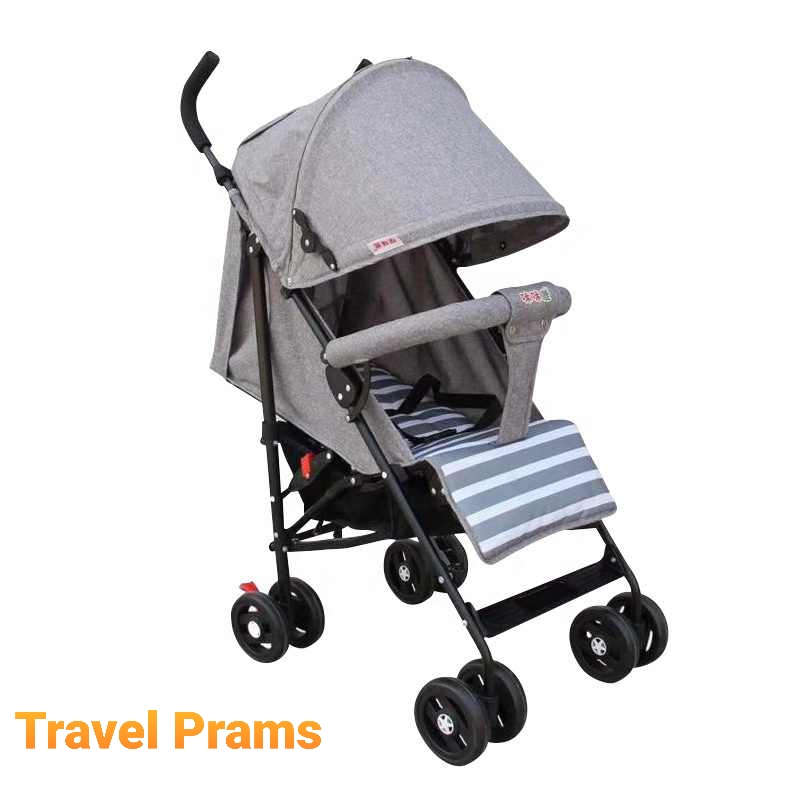Travel Prams in Classic Grey