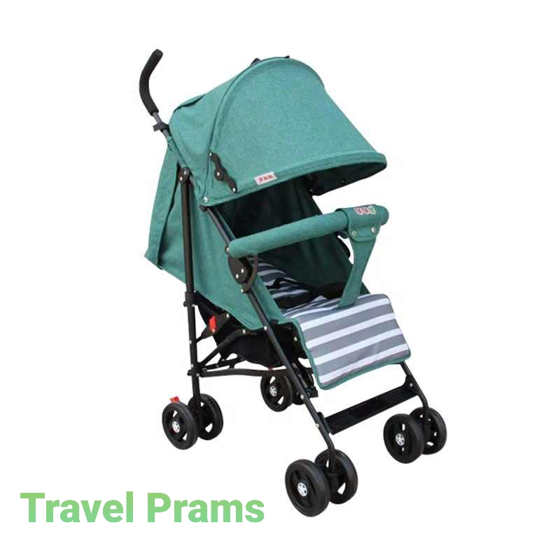 Travel Prams In Aqua Green