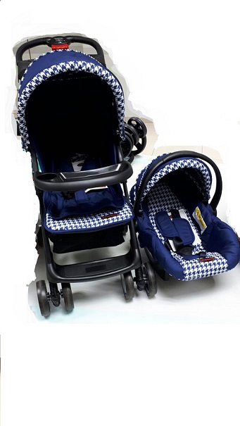 Chelino Practical Pram Combo Set Baby Pram including  Car seat Colour Navy and White