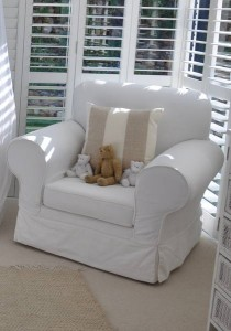 Extra Wide Rocking Chair With Raised Arm Rest - Slip Cover Designer