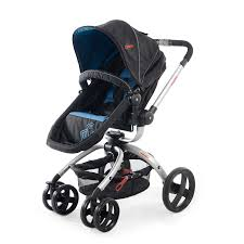 Blue and Black Twister Pram