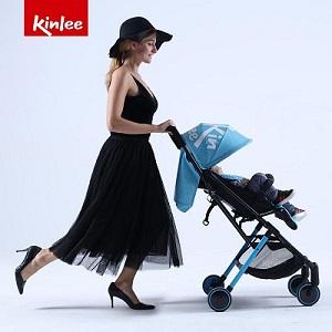 Kinlee Blue Folding Baby Pram