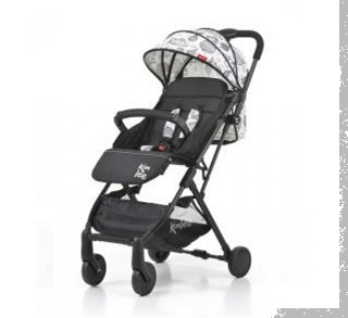 Kinlee Designer Pram Grey and Black