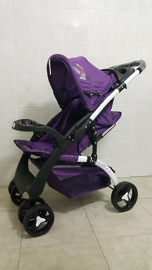 Standard Reversible Yudi Prams Purple Colour