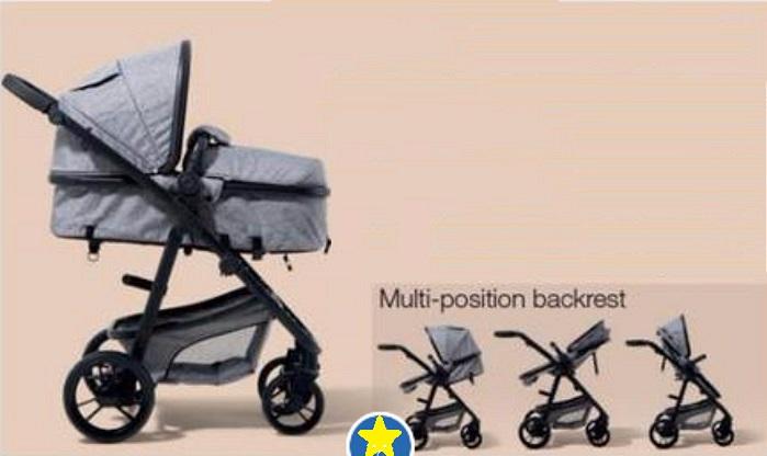 Premium Luxury Rotational Baby Pram 2 in 1