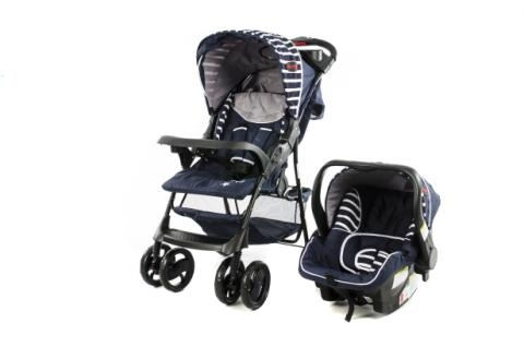 Matrix Pram Travel System Navy Blue and Black