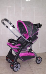 Pink and Grey Reversible Baby Prams