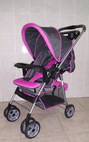 Pink and Grey Standard Reversible Baby Prams