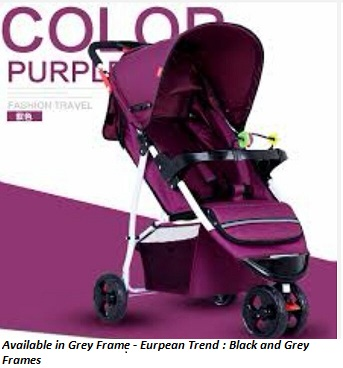 Purple Fashion Travel Pram with Silver Frame